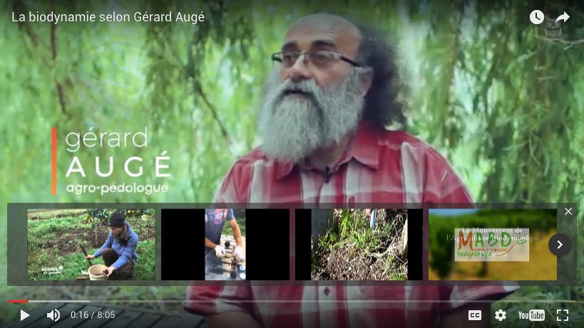 La biodynamie selon Gérard Augé